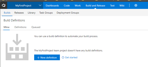 GitHub Repository Integration with VSTS CICD