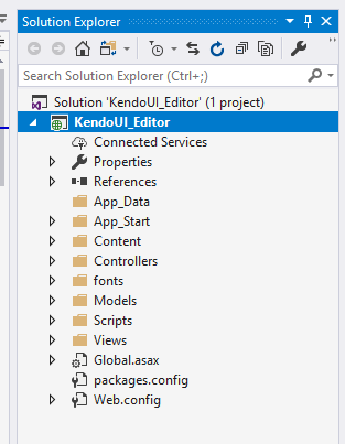 ASP.NET MVC 5 - Kendo UI - Working With Editors And Customize It