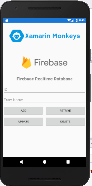 Xamarin.Forms - Working with Firebase Realtime Database CRUD Operations