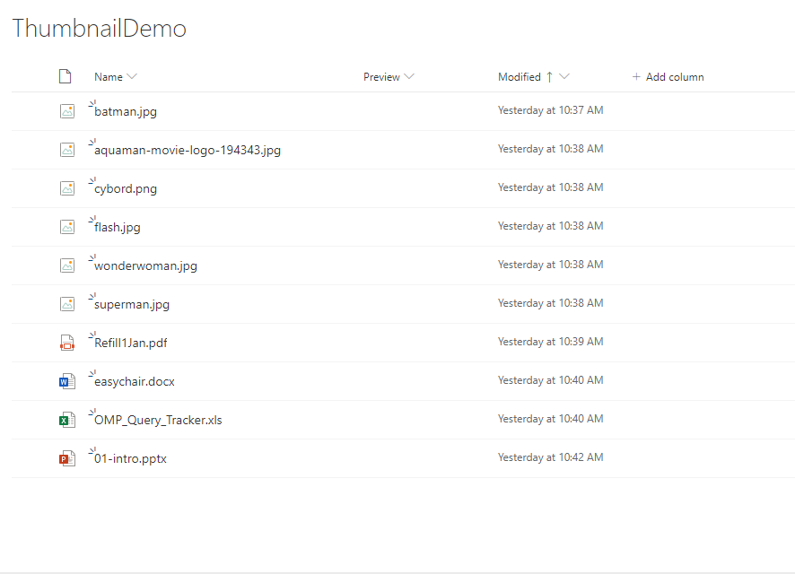 Thumbnail Or Preview Of Files In SharePoint Document Library Using Column Formatting