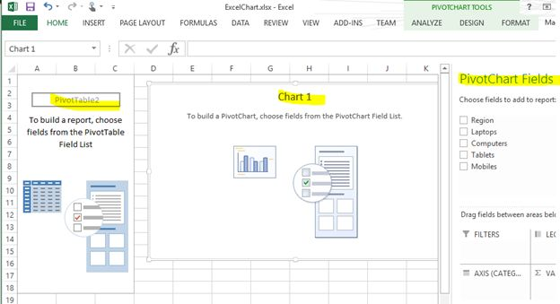 display pivot chart and table from excel document in sharepoint