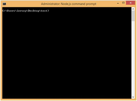 Nodejs Command Prompt