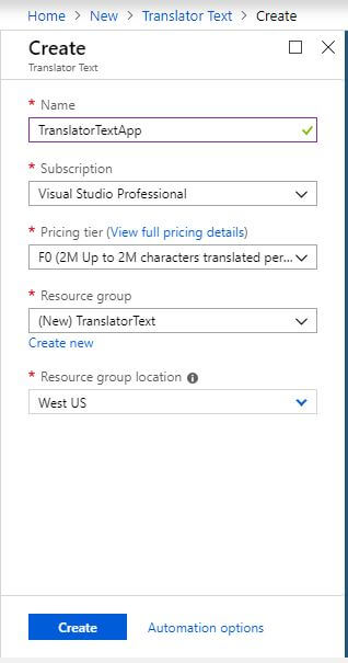 Translate Text into multiple languages using Translator Text API With Asp.Net Core & C#
