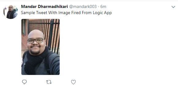 "Tweeting Using Logic Apps - Error ""Media Type Unrecognized"" When Sending Image With Tweets"
