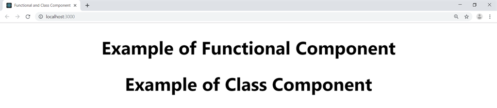 Class Component in React output