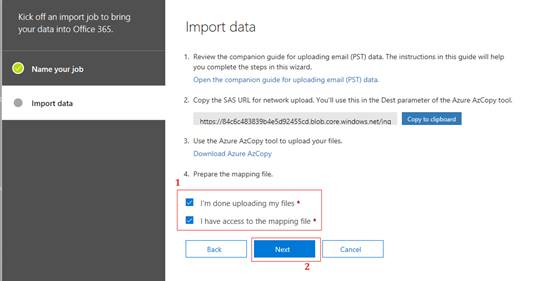 Upload MS Outlook PST File Into Office 365 Exchange Online Mailbox