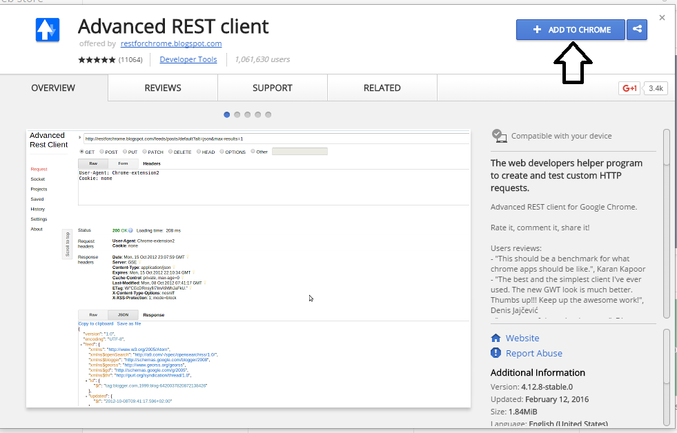 Add On Chrome Rest Client