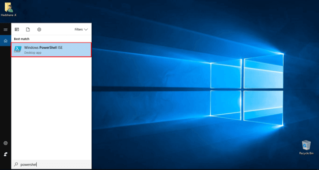 Windows PowerShell ISE