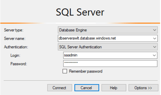 Use SQL Server Management Studio To Connect Azure SQL Database