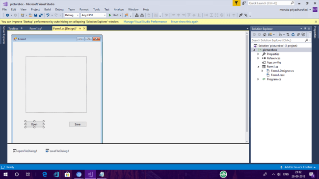 Using PictureBox In Windows Forms
