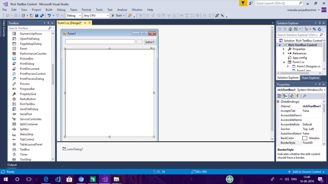 Using Rich TextBox In Windows Forms