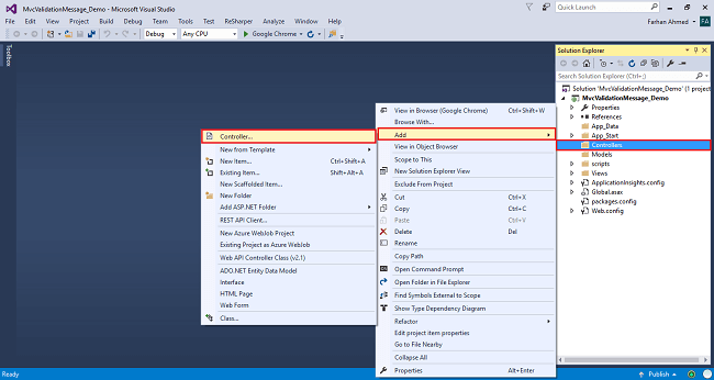 Validation Message And Validation Summary In ASP.NET MVC