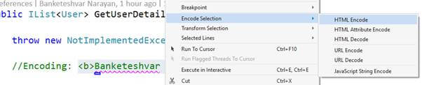 Encode/Decode Selection