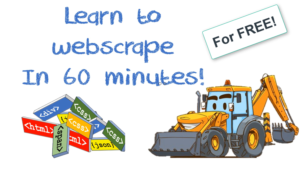 Web scraping for free