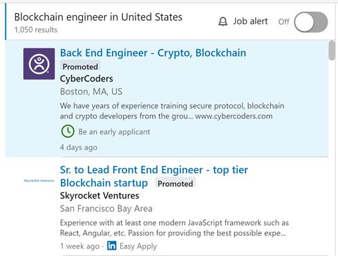 Blockchain Engineer in USA