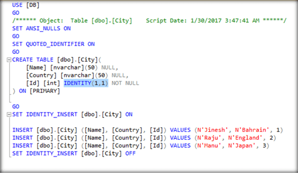 Working With Identity Column After Table Creation In Sql Server