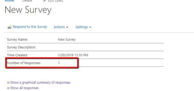 Working with Survey List in SharePoint