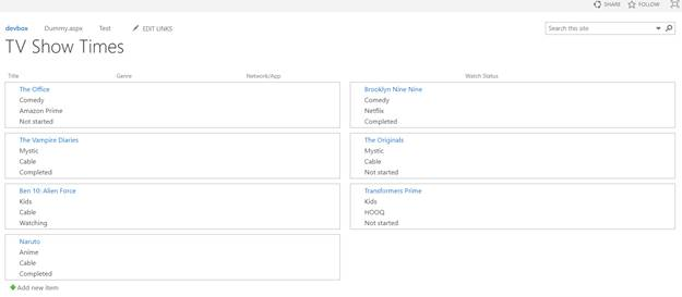Views In SharePoint Online