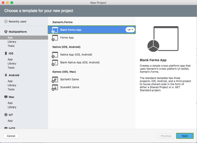 Setting up a Xamarin.Forms Project