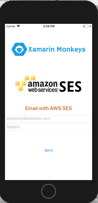 Xamarin.Forms - Send Email using AWS SES(Simple Email Service)