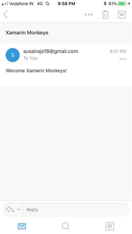 Xamarin.Forms - Send Email using SMTP