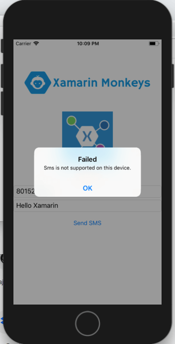 Xamarin.Forms - Send SMS Using Xamarin Essentials