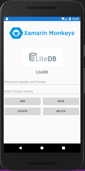 Xamarin.Forms - Working With LiteDB CRUD Operations