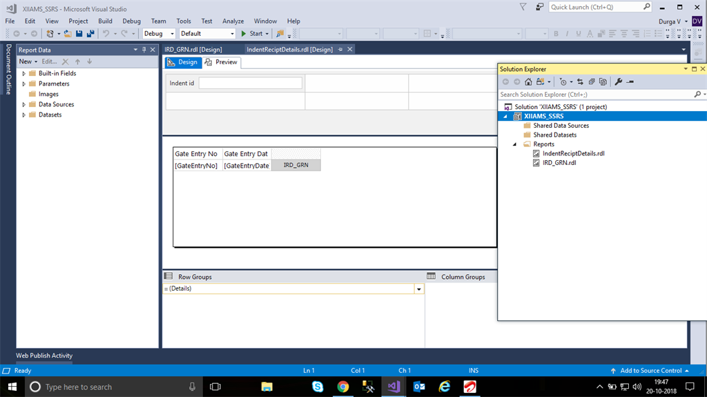 how to execute sub-reports for a SSRS report